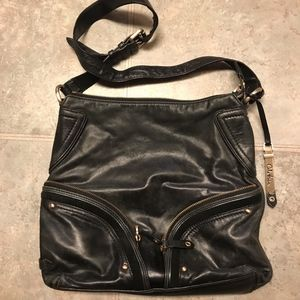 Cole Haan Black Leather Crossbody Purse